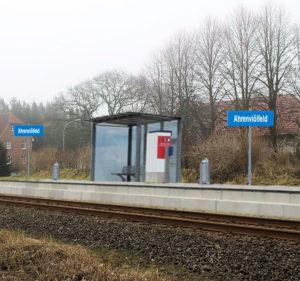 Bahnhaltepunkt in Ahrenviölfeld