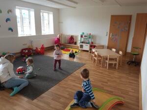 Der neue Gruppenraum für die Krippenkinder.